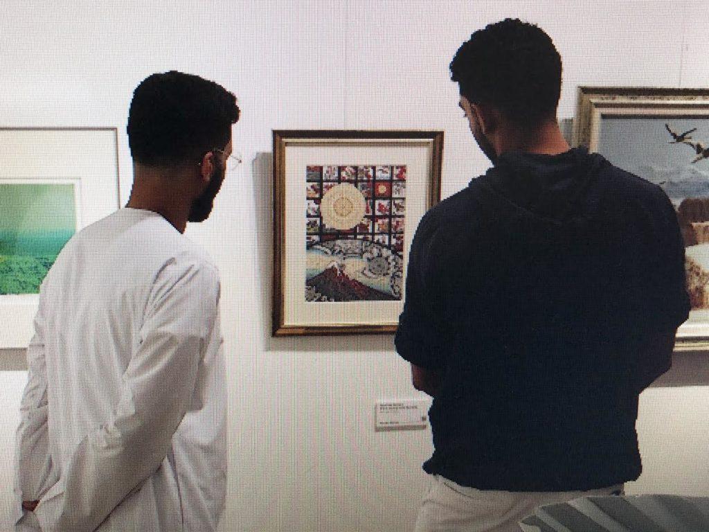 アラブ首長国連邦での展覧会 「MANDARA HANAKARUTA」